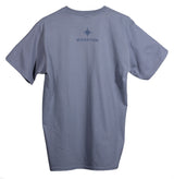 Mens Humpback and Calf Tee - Steel Blue