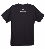 Mens Cabezon Tee Front Print- Black