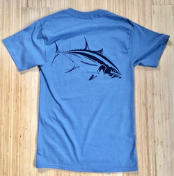 Mens Yellowfin Tee - Blue back print