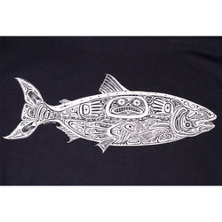 Sale Mens Salmon Tee - Black