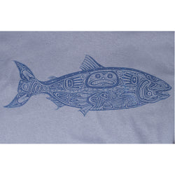 Sale Mens Salmon Tee - Steel Blue