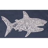 Ladies V Neck Shark - Indigo