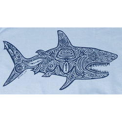Sale Mens Shark Tee - Steel Blue