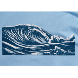 Sale! Mens Wave Tee - Blue