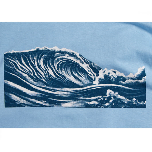 Mens Wave Tee - Blue