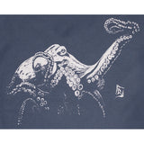 Ladies Octopus V Neck - Indigo