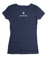Ladies Cabezon V Neck - Indigo