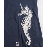 Ladies Sea Unicorn Tee -indigo