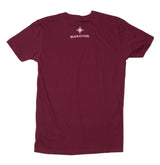 Mens Lightweight Crab Tee - Maroon