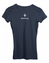 Ladies Sea Otter V Neck - Indigo