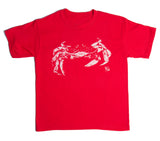 Youth Crab Tee Shirt - Red