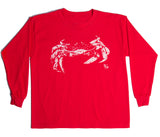 Youth Crab Long Sleeve Tee Shirt - Red