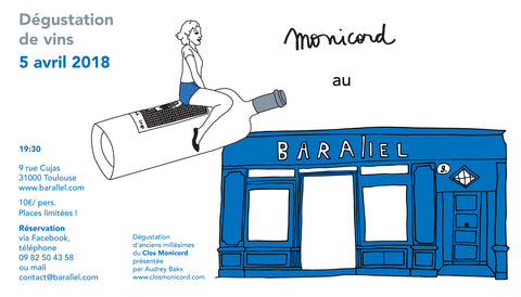 Monicord x Barallel wine tasting Toulouse