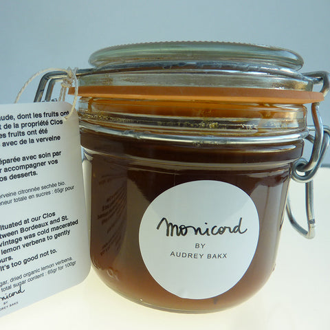Greengage plum preserve with lemon verbena