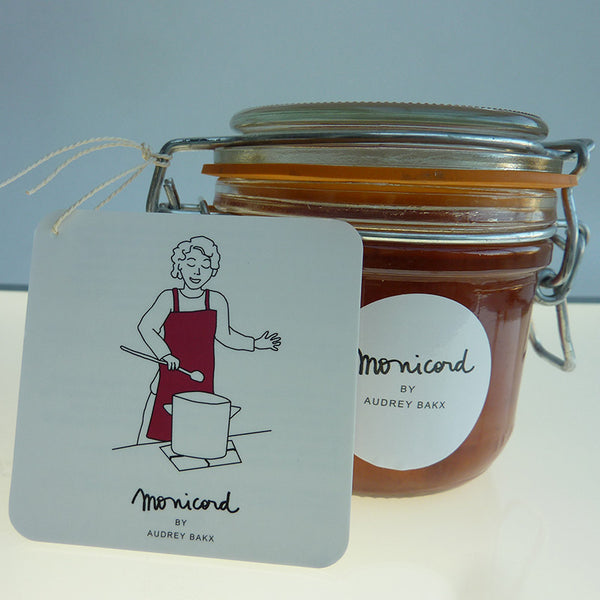 Yellow plum preserve flavoured with orange blossom