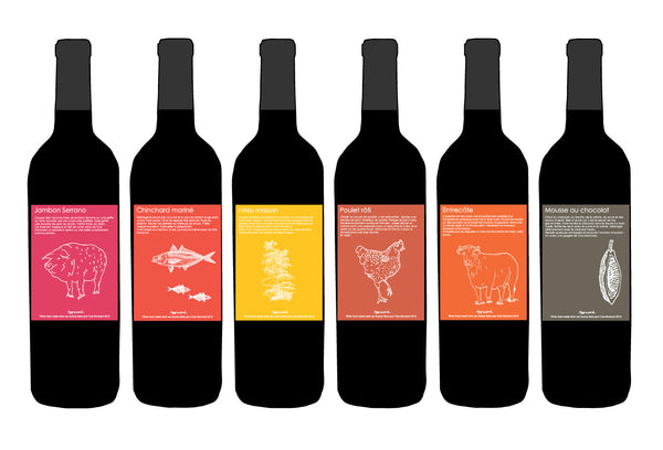 """When food meets wine"" is th theme for the Clos Monicord 2015 labels"