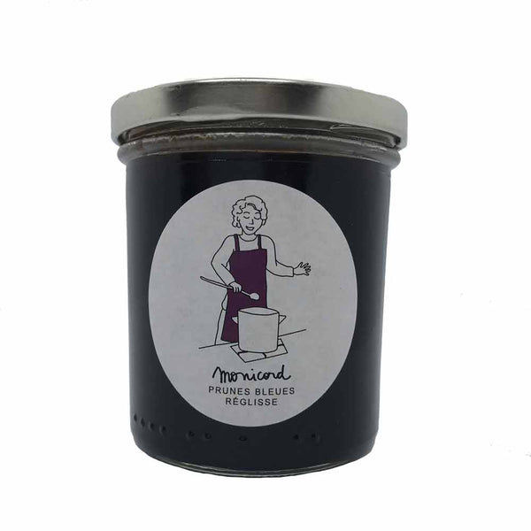 Blue plum preserve with liquorice