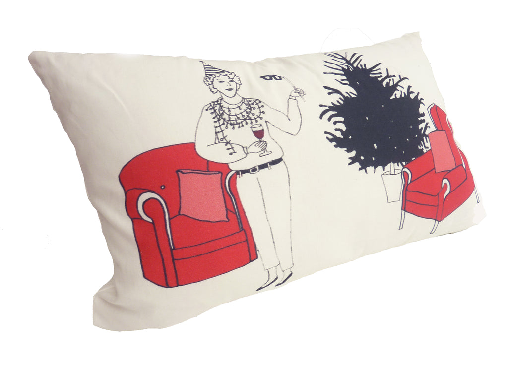 Madame Monicord  cushion - double sided