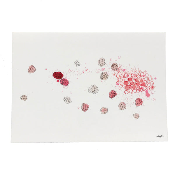 "Set of 6 postcards ""Molecular aromas"""