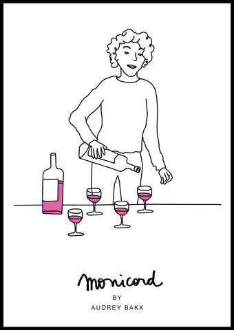 Madame Monicord wine by the glass poster
