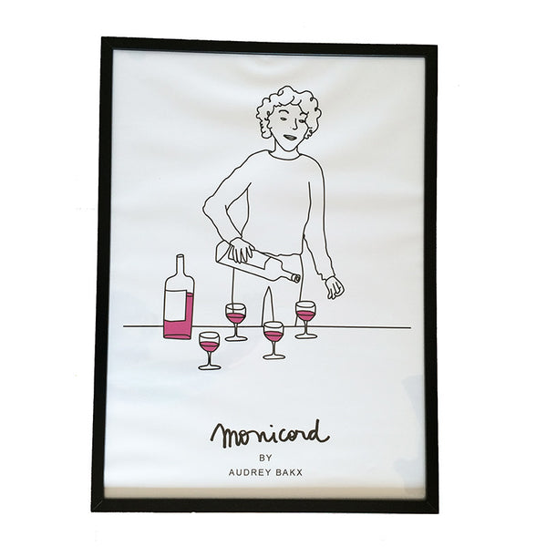Madame Monicord wine by the glass poster B2