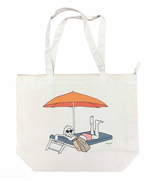 Beach bag - Madame Monicord under the Parasol
