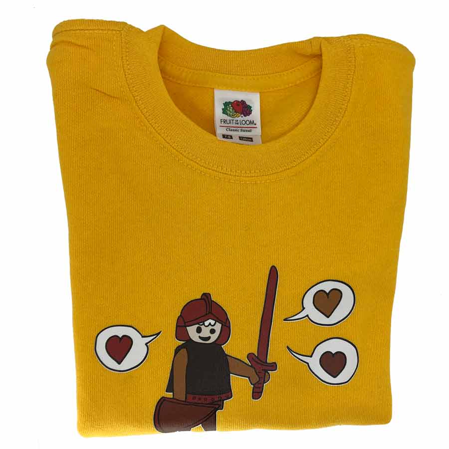 Playmobil Kids Sweatshirt Yellow