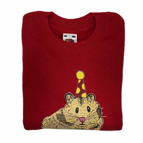 Hamster Kids Sweatshirt Red