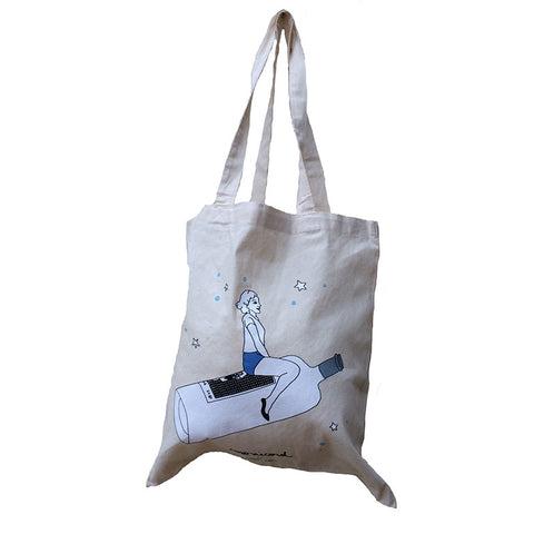 Madame Monicord natural tote bag