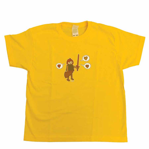 Playmobil Kids T-shirt Yellow
