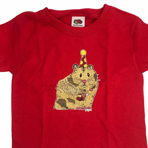 Hamster Kids T-shirt Red