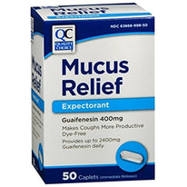 Quality Choice Mucus Relief Expectorant Guaifenesin 400mg 50 Caplets