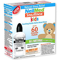 NeilMed Kids Sinus Nasal Rinse All Natural Kit + 60 Premixed Packets