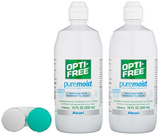 Opti-Free Puremoist Multi-Purpose Disinfecting Solution 2 10 Ounce Bottles