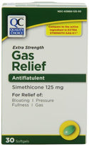 Quality Choice Extra Strength Gas Relief Simethicone 125mg Softgel 30 Count