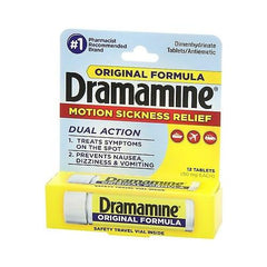Dramamine Motion Sickness Relief Original Formula, 12 Count
