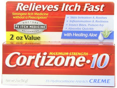 Cortizone-10 Maximum Strength Anti-Itch Creme with Aloe 2  Ounce Each