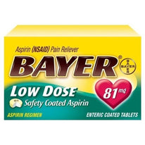 Bayer Low Dose Safety Coated Aspirin 81mg 32 Tablets