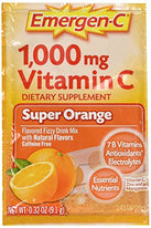 Emergen-C Pink 1000 Mg Vitamin C Supplement Super Orange 30 Packets
