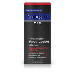 Neutrogena Men Triple Protect Face Lotion With Sunscreen SPF 20 1.7  Ounce