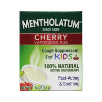 Mentholatum Cherry Chest Rub For Kids 1.76 Ounce Each