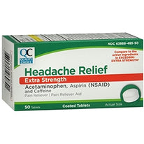 Quality Choice Headache Relief Extra Strength 50 Tablets