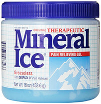 Mineral Ice Topical Analgesic Pain Reliving Gel 16 Ounce Each
