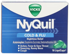 Nyquil Cold And Flu Nighttime Relief Liquid Capsules 16
