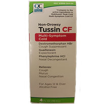Quality Choice Non-Drowsy Tussin CF Multi-Symptom Cold 4 Ounce