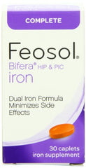 Feosol Complete Bifera HIP & PIC Iron Supplement 30 Caplets