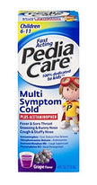Fast Acting PediaCare Children's Multi-Symptom Cold Grape 4 Ounce Each