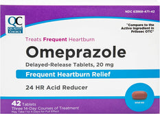 Quality Choice Omeprazole Delayed-Release Acid Reducer 42 Tablets
