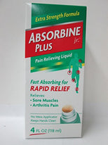 Absorbine Jr. Plus Extra Strength Pain Relieving Liquid 4 Ounce