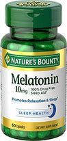 Nature's Bounty Melatonin 10mg Capsules. 60 Tablets Each
